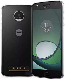 Moto z play battery problem only set in working with box for sale