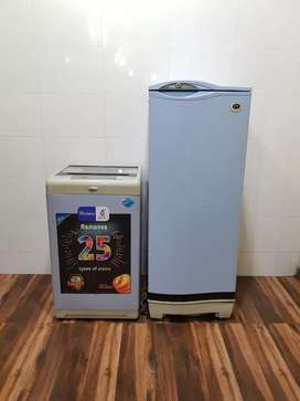 Whirlpool 6.2kg top load washing machine n refrigerator