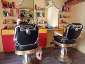 Hair cutting saloon for sale