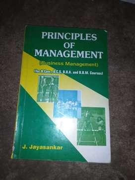 Principles of management by J JAYASANKAR