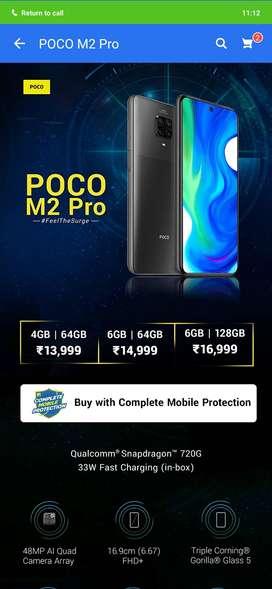 Poco m2 pro (4-64) and (6-64)
