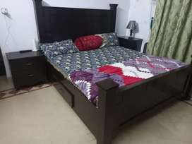 Bed+2 side table Dining Table+ 6 chairs Suit Almari +  Cutlery Almari
