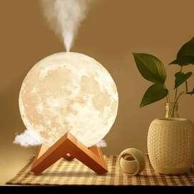 Humidifier Diffuser Bulan Aromaterapi Lampu Tidur 3D Moon Light Night