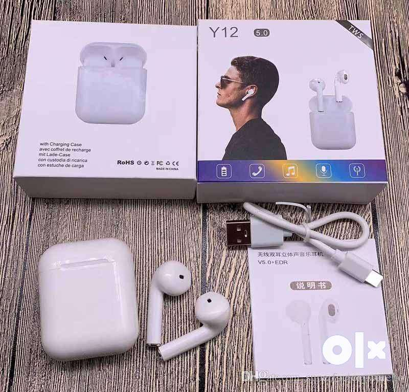 Airpod Y12 Sensor with pop up feature with FREE Case on Cash delivery 0