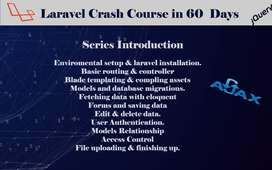 Laravel Crash Course for Beginners & Intermediate from scratch.
