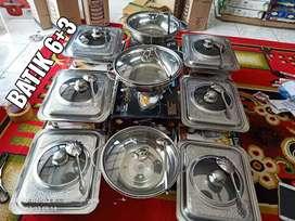 Ready stock moms   Prasmanan kaca dan batik 6+3   *