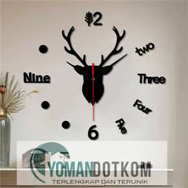 New -Jam Dinding 3D DIY Giant Wall Clock Quartz Creative 100cm - Q8073