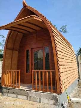 Rumah lumbung Kayu jati 4x5