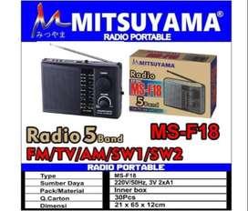 MITSUYAMA MS-F18 RADIO PORTABLE AM FM SW AC KE DC