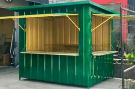 CONTAINER JAJANAN/BOOTH FRANCHISE/STAND JUALAN/CONTAINER DAGANG MURAH