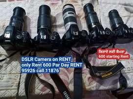 DSLR Camera on RENT only Rent 600 Par Day