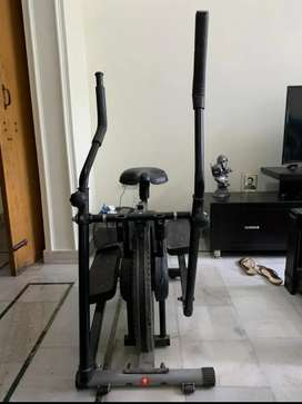 Cross trainer + cycle (2 in 1)