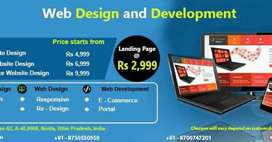 Website Development starts with 2500 Rs. Only