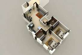 2bhk flat for sale at sayajipura - 26 Lac Only