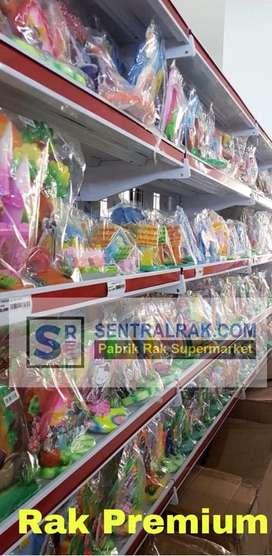 Rak gondola bahan kue ulangtahun supermarket minimarket