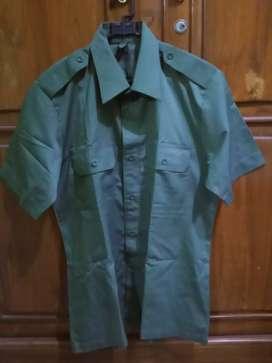 Baju TNI lengan pendek