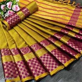 Catalog Name:*Banita Refined Sarees* e Fabric: Cotton Silk Blouse: