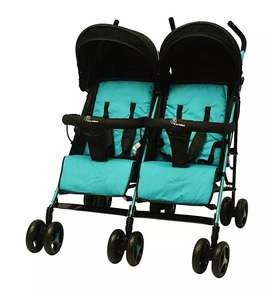 R for Rabbit Ginny and Johnny – Twin Stroller and Pram (Blue Black)