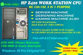 @HP WORKSTATION CPU *#*  We Can Use 3 in 1 Purpose@