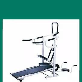 treadmill manual 5 fungsi EX-665 treadmil alat fitnes