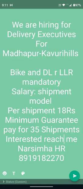 Delivery Executives(Madhapur)