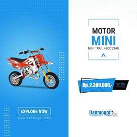 Motor Mini Trail 50cc Medan murahBerkualitas 2 Tak Cross Bike