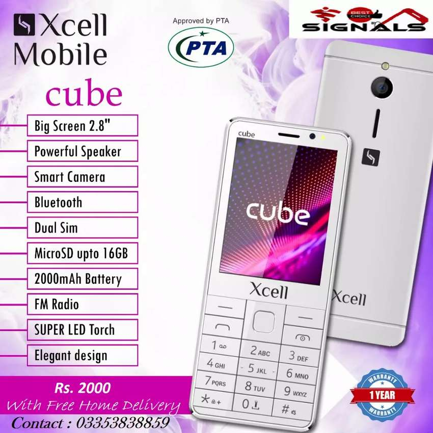 New  Xcell cube keypad phone one year Best choice Warranty 0