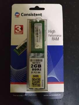 Consistent 2 gb brand new ddr2 800 mhz ram