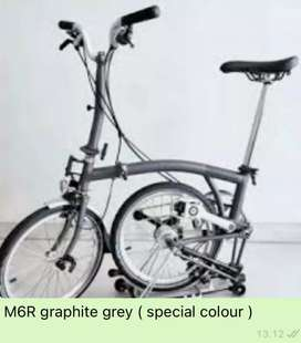 BROMPTON M6R Graphite Grey 2020 ( Special Color )