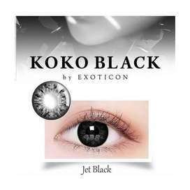 Softlens Hitam Koko Black Jet Black Hitam