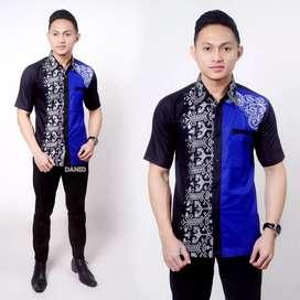 Hem batik pria kombinasi 019