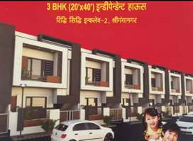 20*40 independent Home 3bhk in Ridhi-sidhi second