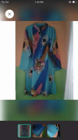 Batik tunik sutra