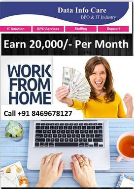 Offline Data Typing work at home Earn 20,000/- Every month