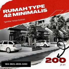 Hunian Minimalis di Jalan Hikmah Banua type 42