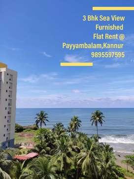 3 Bhk Sea View Furnished Flat Rent in Payyambalam,Kannur