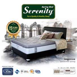 (FREE ONGKIR) SET Springbed Elite Serenity Impressa Pocket 160x200