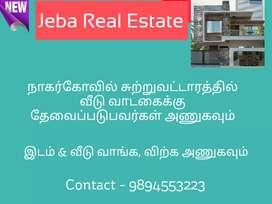 Houses for Rent near Vetturnimadam, Parvathipuram Surrounding