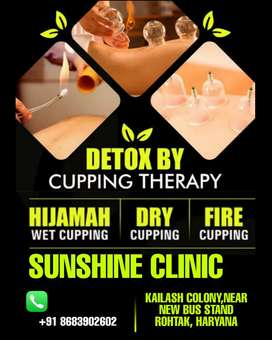 Cupping therapy hijama for hair fall , back pain, knee pain