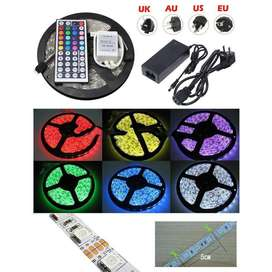 Led Strip Flexible Light Waterproof 5050 RGB 5M with 44 Key Remote