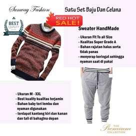AM00120 Celana Setelan Satu set Sweater dan celana jogger
