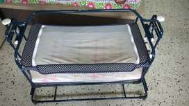 Mothertouch foldable baby cradle (jhoola) with mattress