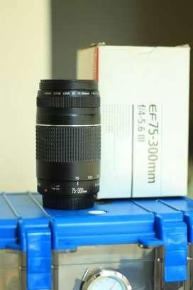 Lensa tele Canon 75-300mm f/4-5.6 III