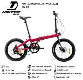 Sepeda Lipat United Pact Bisa Kredit Promo DP 250k kredit