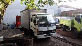 Isuzu Elf engkel box alminium th 2000