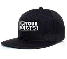Flat Customize HipHop Plain Snapback Caps with Embroidery Logo