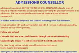 Wanted Admission counselor