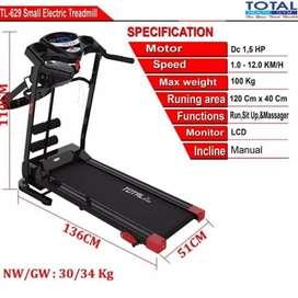 treadmill elektrik total TL-629 F-281 electric treadmil alat fitnes