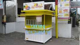 Container juice, booth minuman, booth dagang, booth kedai, booth