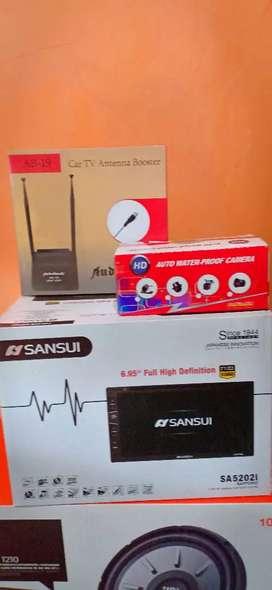 Double din tv Sansui+Antena tv+Camera+Psang